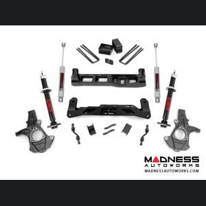 "Chevy Silverado 1500 2WD Suspension Lift Kit w/ N3 Shocks & Lifted Struts - 5"" Lift - Aluminum Stamped Steel"